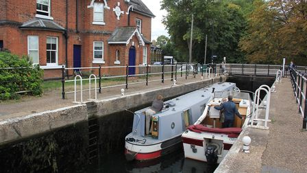 Enfield Lock, near where the Lee Enfield rifle was made