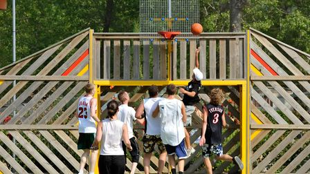 Team sports available at Camping La Yole