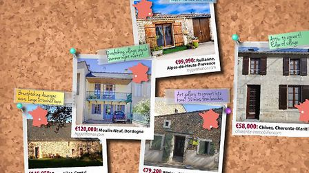 Crazy wall of French properties © French Property News