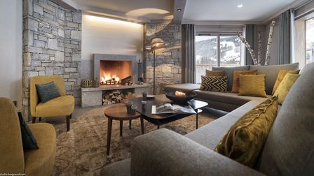 Living area at Residence Amaya in Les Saisies © MGM French Properties