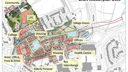 The WaterSpace plan for development around the terminus