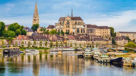 Auxerre's recognisable skyline along the River Yonne ©bluejayphoto - ThinkstockPhotos