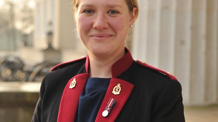 Genevieve Froehlich, who has graduated from Sandhurst.