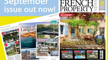 Get your copy of the September 2017 issue of French Property News