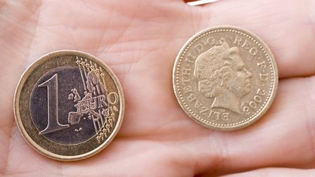 Pound to Euro exchange rate © Psdphotography / Dreamstime