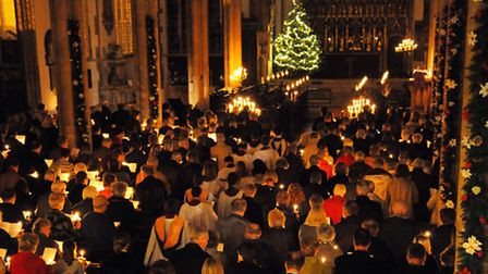 The Evening News Carols at Christmas service by candlelight at St Peter Mancroft. Picture: Denise Br