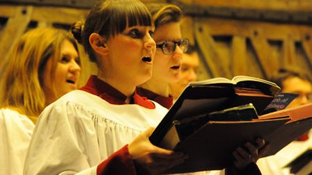 The Evening News Carols at Christmas service by candlelight at St Peter Mancroft. The Choral Scholar