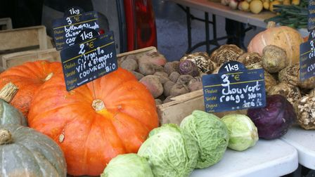 There is more of a tradition of buying seasonal food at the market in rural France