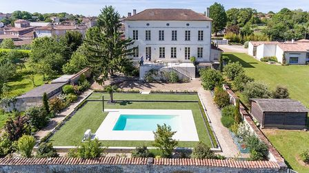 A former school overlooking the Charente countryside