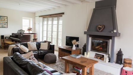Inside the Lunsfords' home in France