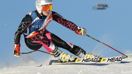 Jazmine Butcher in action in Chamonix. Picture: Racer Ready.