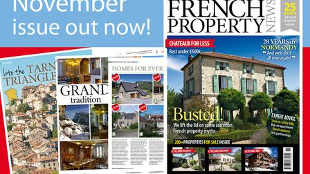 Get your copy of the November 2017 issue of French Property News