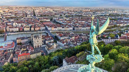View of Lyon from the top of Fourvire ventdusud - Getty Images/iStockphoto