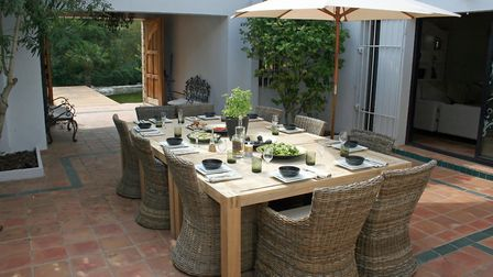 Dining al fresco at Linda's house in Provence