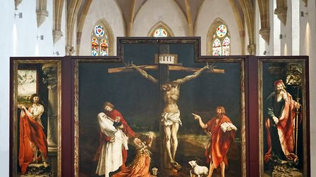 The famous Isenheim altarpiece on display in the Muse Unterlinden Jean-Pierre Dalbra CC BY SA 2.0