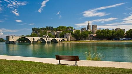 View of Avignon's bridge with the Papal palace in the background ©Dreamstime - Tom Plesnik