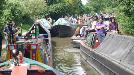 Braunston during the historic boat rally