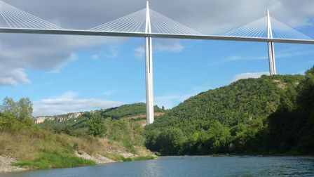 The Millau Viaduct is 19m higher than the Eiffel Tower © Auvergne Tourisme