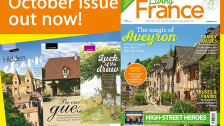 The October 2017 issue of Living France is on sale now!