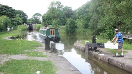 The attractively situated Bosley Locks