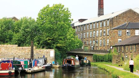 Passing the mills of New Mills