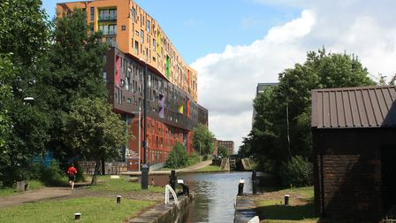 The 'Chips' building overlooks Ancoats Locks
