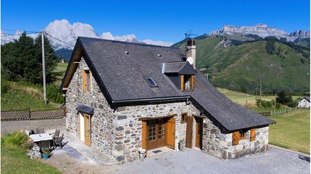 Stone farmhouse on edge of Pyrenees National Park from French Character Homes