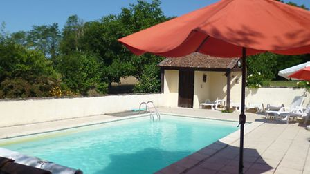 The pool at Ali's house in France
