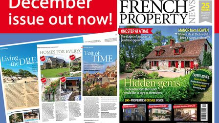 Get your copy of the December 2017 issue of French Property News!