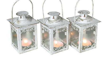 Light up your home with these white and gold lanterns from Melody Maison