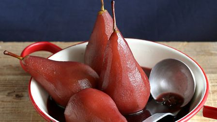 End the meal with pears poached in Beaujolais Nouveau ©dreamstime