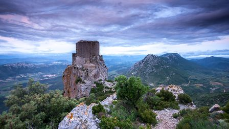 You'll find vestiges of Cathar castles, such as Château Queribus, in Languedoc-Roussillon ©garethkir