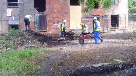 Work starts on restoring the cottages at Draycott