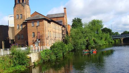 Checking depth for tripboats at the Silk Mill