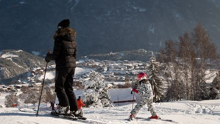Skiing in Aussois in the French Alps © A Pernet - OT Aussois