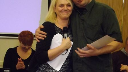 Rik Thornton with Sara Betsworth, regional head of operations from the Stroke Association in East of