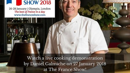 Come to the France Show in London, Olympia to see Daniel Galmiche cook