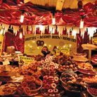 French Christmas market food stall © istockphoto