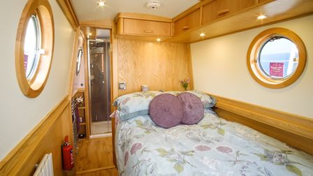 The bed extends to 5ft and there is plenty of storage