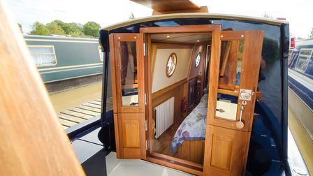 Cabin opens out on to the well deck