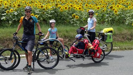 Phoebe and Susan complete the family team on a Fellow Velo cycling holiday
