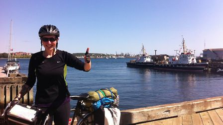 Katy Owen has raised more than £12,000 for cancer charities by completing a transatlantic challenge