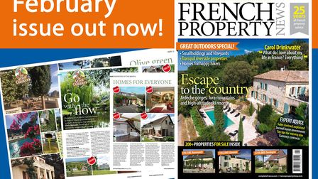 The February 2018 issue of French Property News is on sale now!