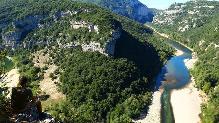 The Ardèche Gorges are a paradise for outdoor sports ©Sébastien Gayet