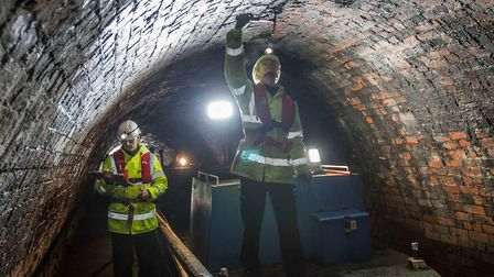 Inspecting Chirk Tunnel (Paul Kyte, CRT)