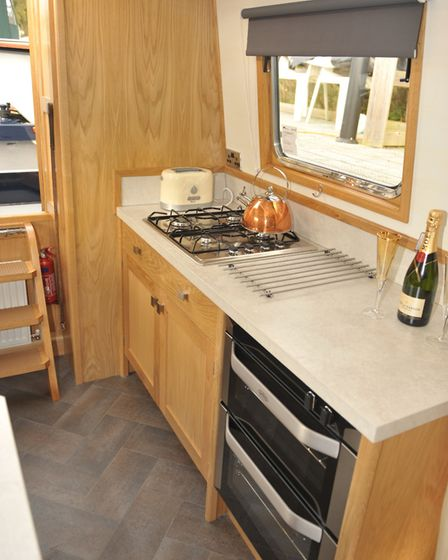 The owners wanted full-sized appliances in the galley
