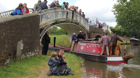 Braunston Turn during the annual historic boat rally