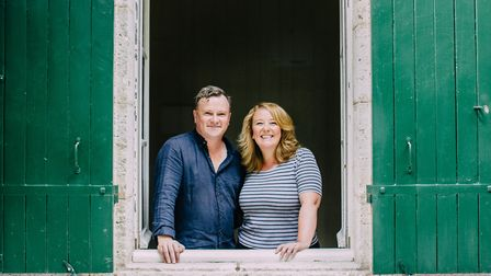 Julia Douglas and Colin Usher at their home in France © Soda Hansse