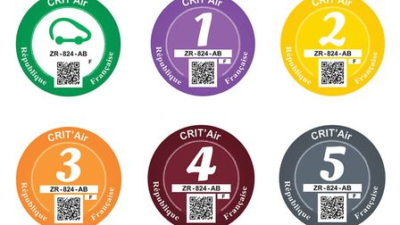 French Crit'Air stickers you need when driving in Paris © Archant