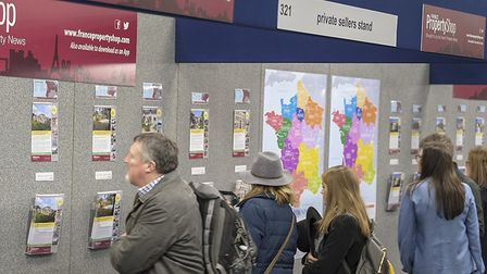 Househunters browsing French properties at The France Show 2018